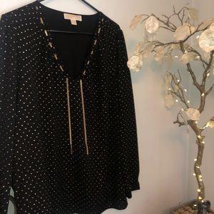 Michael Kors black & gold blouse XL